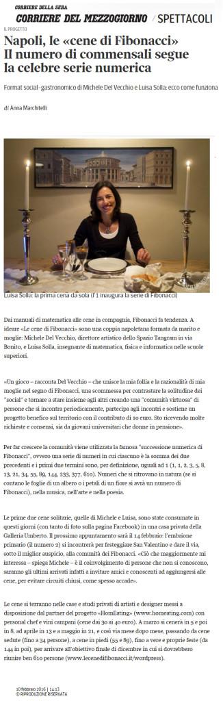 10 febbraio 2016 | Corriere del Mezzogiorno online